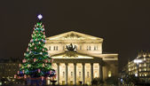 Christmas tree near Big theatre, Moscow — Photo