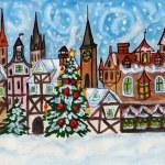 Christmas in old European town — Stock Photo #8229959