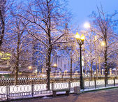 Winter morning in Moscow — Stock Photo