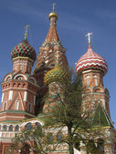 St. Basil's Intercession (Pokrovskiy) cathedral in Moscow. — Foto de Stock