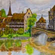 Photo: Hand painted picture, Nuremberg
