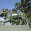 St. Petersburg, sculpture of lion — Foto de Stock
