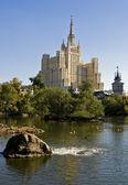 Moscou, edifício alto rize — Foto Stock