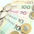 Polish currency - ZLOTY - Stock Photo