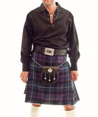 Traditional Scottish outfit — Stock Photo