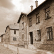 auschwitz birkenau concentration camp — Stock Photo