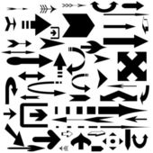 Set black arrows — Stock Photo