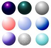 闪亮金属球上白色隔离 — 图库照片