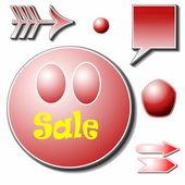 Försäljning etiketter — Stockfoto