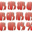 Percentage numbers, Sale Tags — Stock Photo #8178470
