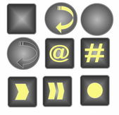 Web Buttons isolated on white — Stock Photo