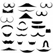 Collection mustaches for fun — Stock Photo