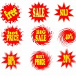 Sale stickers and labels — Stock Photo