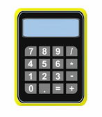 Calculator icon isolated on white background — Stock Photo