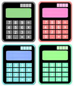 Set colorful calculator icon isolated on white background — Stock Photo