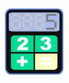 Funny calculator icon — Stock Photo