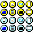 Technology Icon, Button Collection, signs and symbols multimedia — Stok fotoğraf