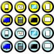 Technology Icon, Button Collection, signs and symbols multimedia — Foto Stock