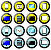 Technology Icon, Button Collection, signs and symbols multimedia — Stock Photo