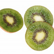 Royalty-Free Stock Photo: Kiwi slices isolated on a white background