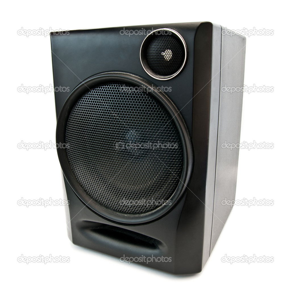 Music speaker isolated on a white background — Stock Photo #10061161