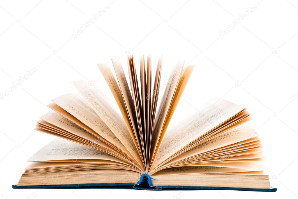 Open book isolated on a white background — Stock Photo #9591944