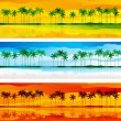 Tropical coast - Stock Vector