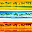 Tropical coast — Stock Vector