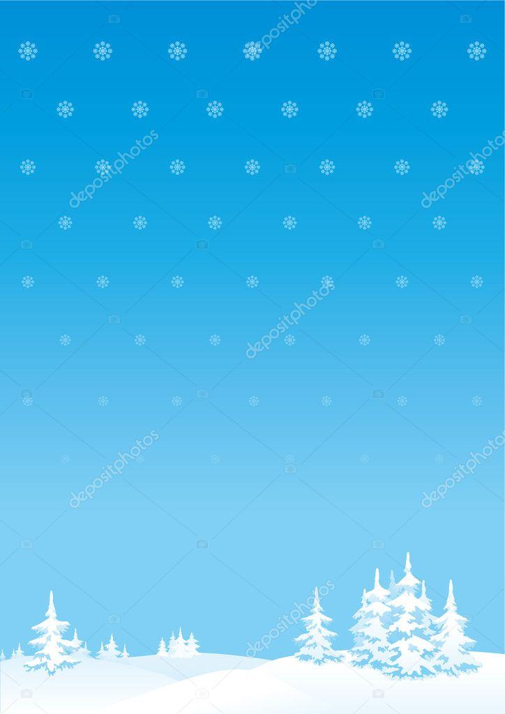 Зимний фон для открытки с новым годом