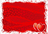 Red background for valentine's day — Stockvector