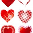 Royalty-Free Stock Imagem Vetorial: Set hearts