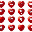 Set icon of hearts - Stock Vector