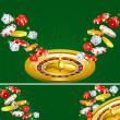 Stock Vector: Two casino backgrounds