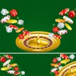 Two casino backgrounds — Stock Vector