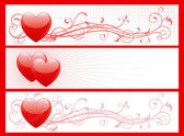 Set of valentin's day banners — Vector de stock