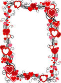 Frame with hearts — Stock vektor