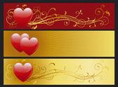 Set van valentin — Stockvector
