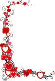 Moldura de corações — Vetorial Stock