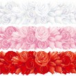 Stock Vector: Rose banners