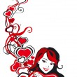 Royalty-Free Stock Imagen vectorial: Valentine border