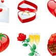 Stock Vector: Icon set for valentines