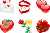 Icon set for valentines — Stock Vector