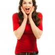 Portrait of beautiful surprised woman — Stock Photo