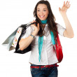 Happy woman shopping — Stock Photo #10389723