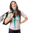 Very happy woman shopping — Stock Photo #10389745