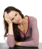 Troubled young beautiful woman — Stock Photo