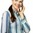 Portrait of an attractive customer service woman — Stock Photo #10392695