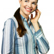 Portrait of an attractive customer service woman — Stock Photo