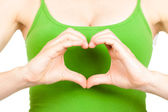 Hands symboling love heart — Stock Photo