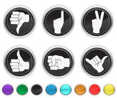 Hands icons,each color icon is set on a different layer — Stock Vector